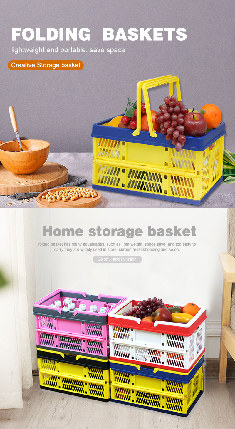 Plastic Basket With Lid Laundry Basket Factory Supplier