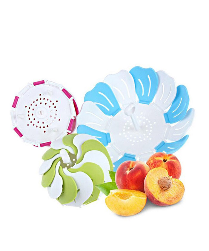 Multifunctional Retractable Plastic Fruit Bowl Drain Tray Basket Fruit Plate