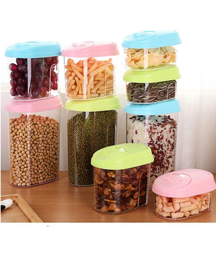 Kitchen Storage Container Set ,Clear Food Jars,Jiema,Supplier
