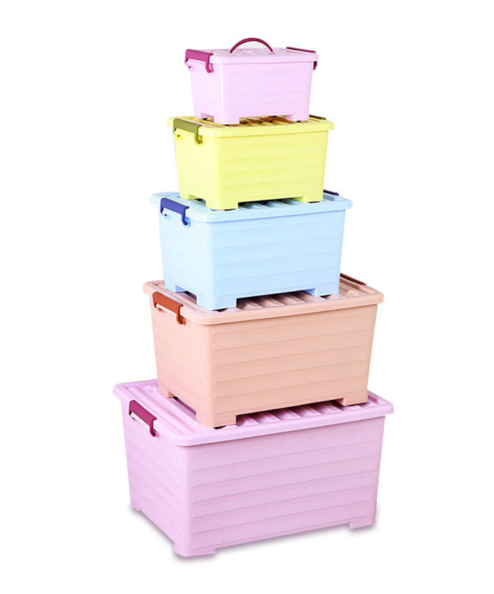 Large Cube Canvas Clothing Toys Home Bins Plastic Storage Box