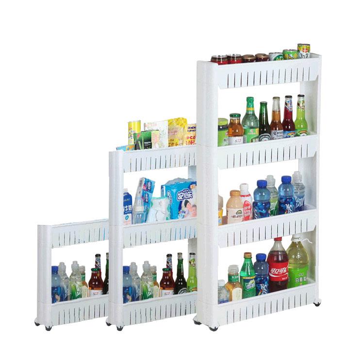 Custom Kitchen Bathroom Corner Multipurpose Rack Plastic Storage Shelf