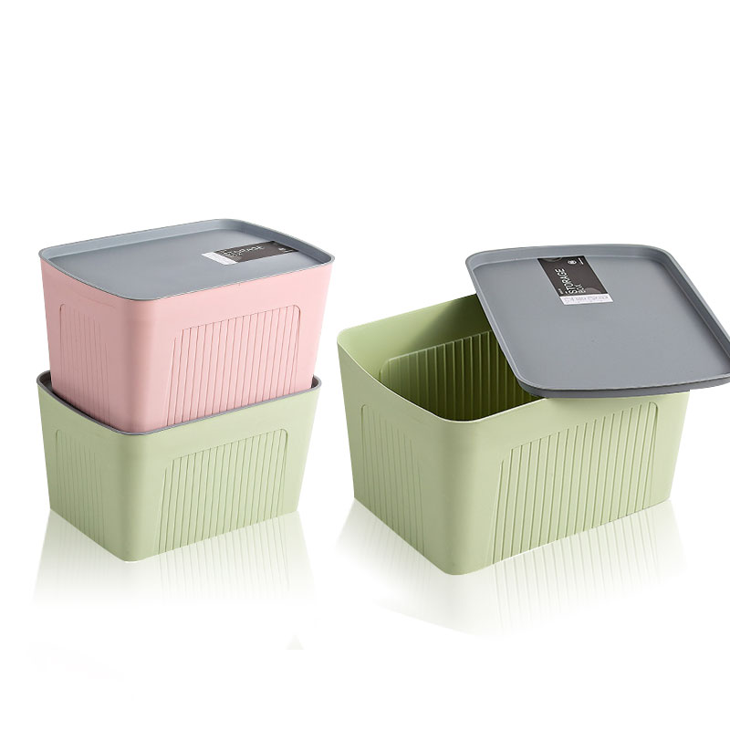 Thicken Stripe Plastic Storage Box