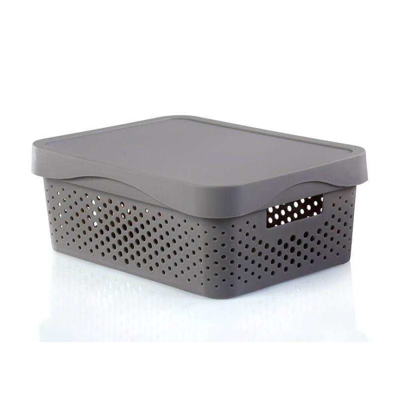 Stackable Hollow Storage Box With Lid