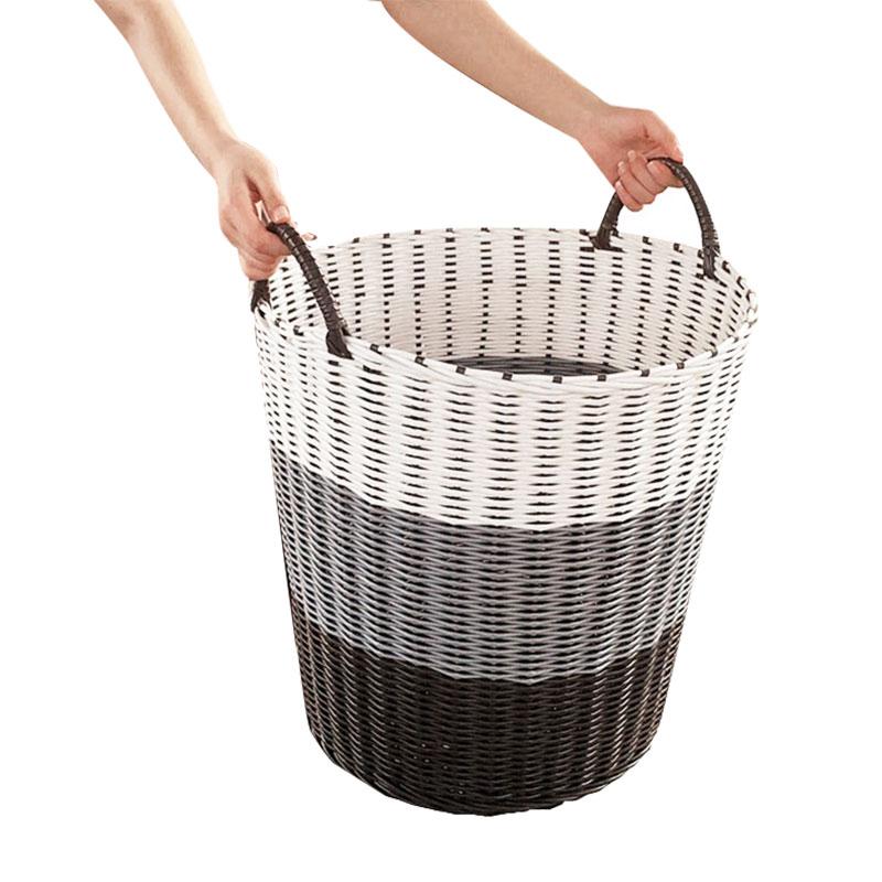 Woven Plastic Laundry Basket