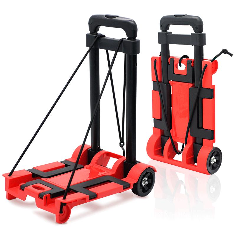 2 Wheels Heavy Duty Portable Folding Luggage Trolley