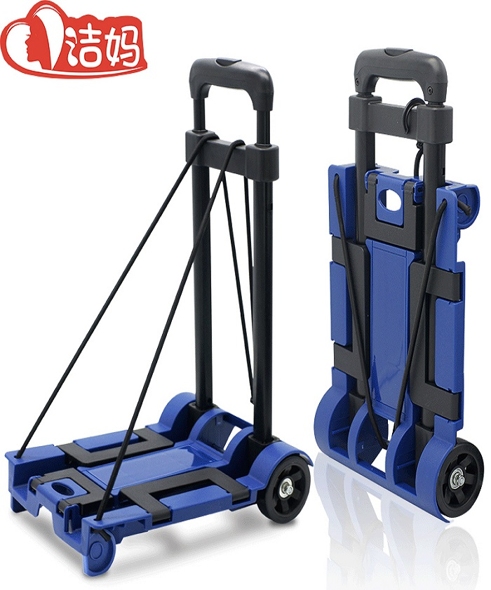 2 Wheels Heavy Duty Portable Folding Luggage Trolley