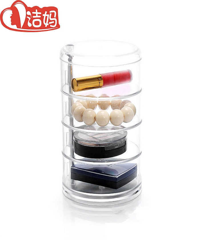 Rotatable Multiuse Transparency Cosmetic Box
