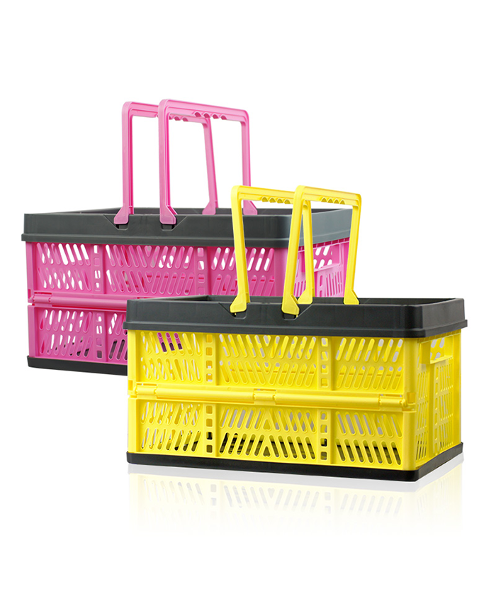 Flexible Plastic Handle Flower Fruit Electric Scooter Laundry Shopping Storage Foldable Basket