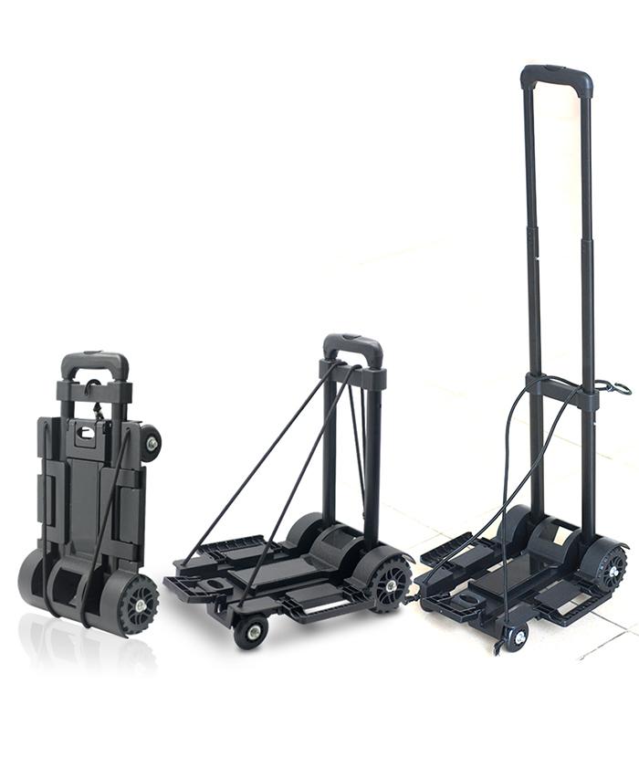 Trolley Cart Food Handle Platform Kitchen Luggage Plastic Folding Bag Wheel  MINI Shopping Cart