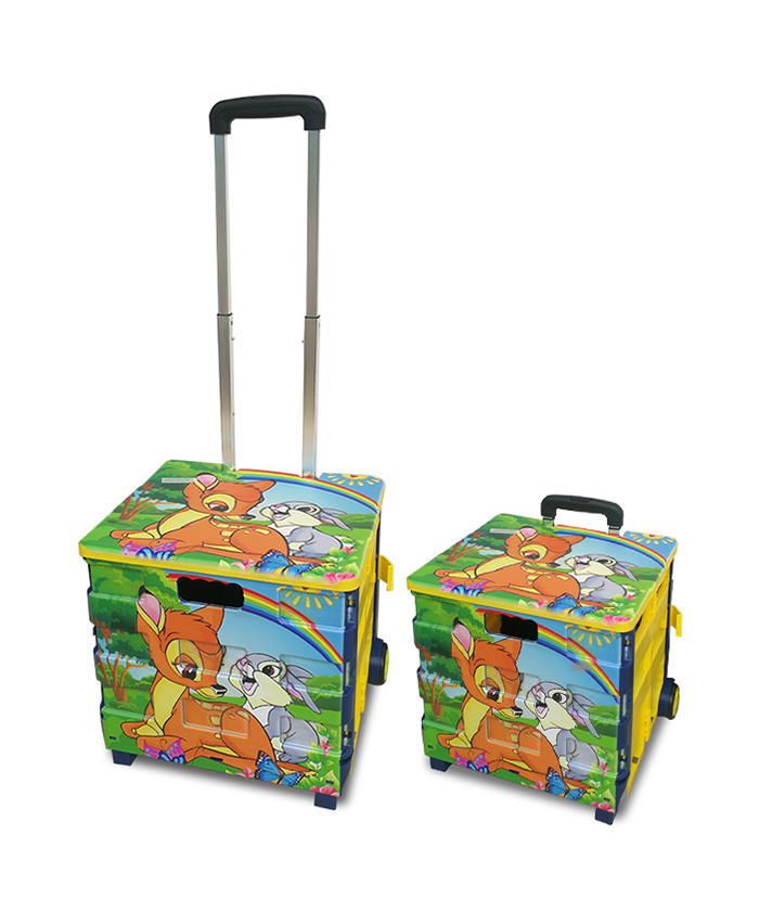 Portable Grocery Household  Folding Collapsible Foldable  Hand Pull Push Folding Shopping Trolley Cart