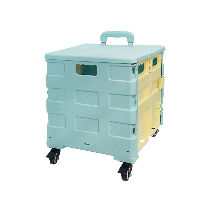 Foldable Shopping Trolley with 4 Wheels Supermarket